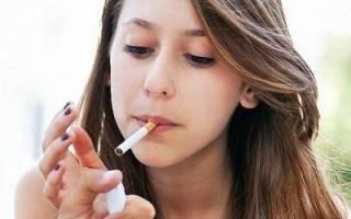 Рвотный рефлекс при курении